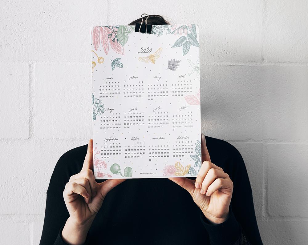 calendario 2020 imprimible