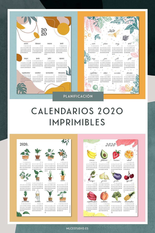 calendarios Pinterest