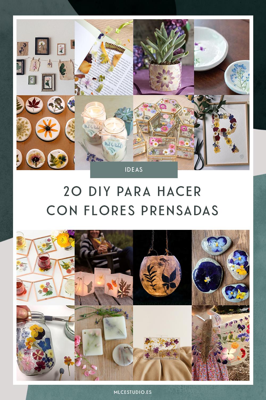 20 ideas DIY para hacer con flores prensadas