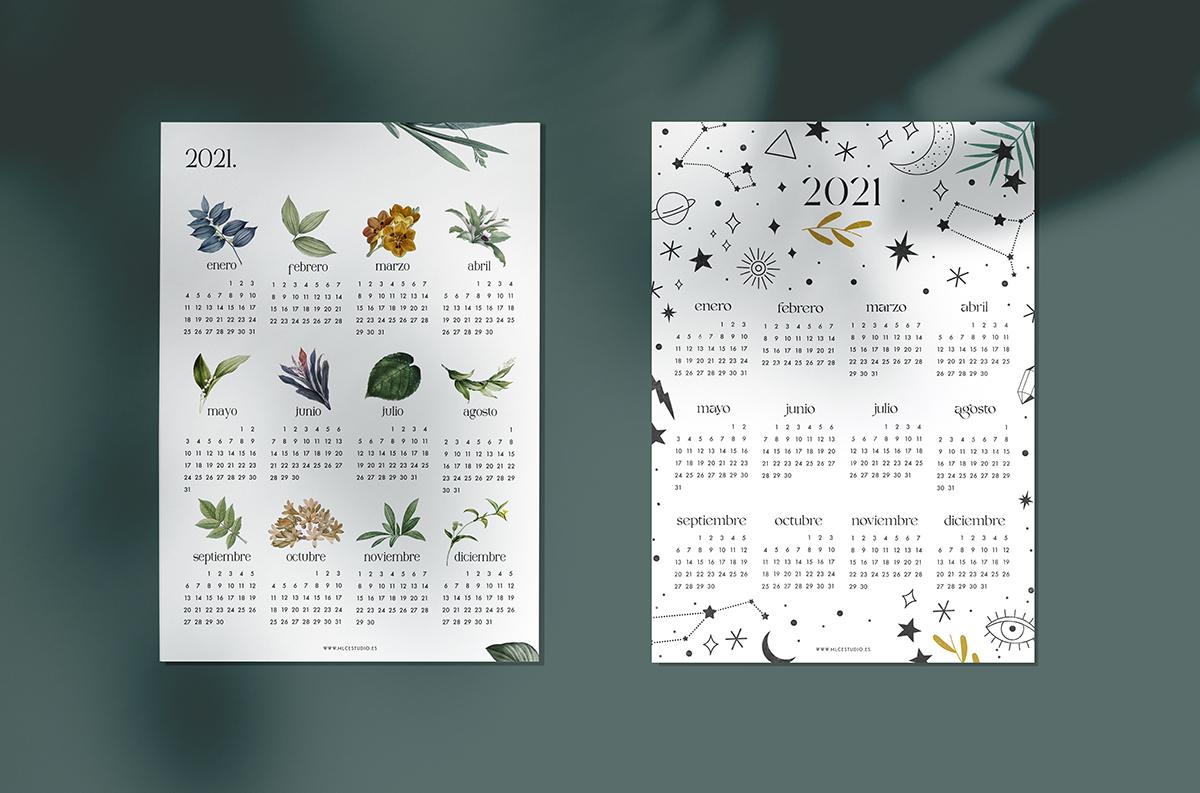 calendarios 2021 imprimibles